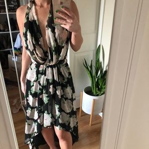Lovers and Friends Floral High Low Halter Dress XS